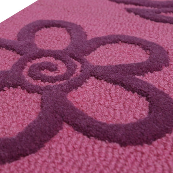 Pink Floral Butterfly Rug