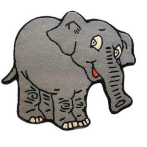 buy kids rugs online, kids rugs, elephant rug, buy elephant rug for kids, boys rugs, elephant shaped rug, kids room rug, playroom rug, littlelooms rugs, hand tufted rugs, handmade rugs
