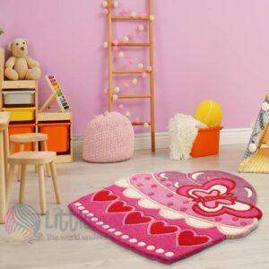 cupcake rug girls rug pink room rug nursery rug children's room playmate handmade rug rugs online