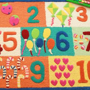 buy kids rugs, kids rugs online, children's carpets, girls number rugs, number rugs, kids numbers rug, colorful kids rug, kids room rugs, rugs for playroom, kids bedroom rugs, littlelooms rugs, hand tufted rugs, handmade rugs