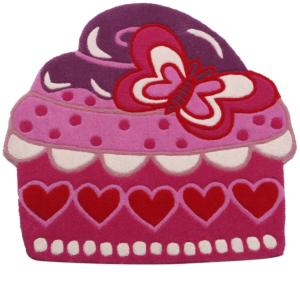 buy kids rugs online, buy cupcake cut out rugs, cupcake rugs, buy girls cupcake rugs, buy cupcake rugs, girls room rug, littlelooms rugs, handmade rugs, hand tufted rugs