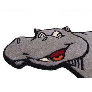 buy kids rugs online, kids rugs, boys hippo rug, boys rug, kids hippo rug, buy hippo rug for kids, hippopotamus rug, hippo shaped rug, kids room rug, playroom rug, littlelooms rugs, hand tufted rugs, handmade rugs