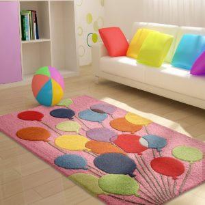 ballon rug, buy balloon rug, pink balloon rug for girls, girls rugs, girls room rugs, buy kids rug online, kids rug, children's rugs, littlelooms rugs, hand tufted rugs, handmade rugs