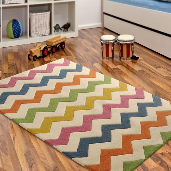buy chevron rugs, colorful chevron rug, multicolor chevron rug, chevron rugs for living room, rugs for formal room, bedroom rugs, littlelooms rugs, hand tufted rugs
