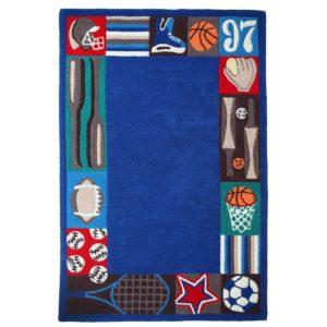 buy kids rugs, Sports rugs, kids rugs online, carpet for kids, blue rugs, buy blue rugs for boys, boys blue sports rugs, rugs for boys, rugs for playing, handmade rugs, littlelooms rugs, colorful rugs