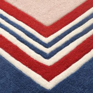 buy rugs online, buy carpets, littlelooms rugs, blue & red rug, red pattern rugs, handmade rugs, hand tufted rugs, living room rugs, bedroom rugs, area rugs, buy living room rugs online