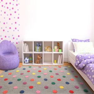 buy rugs online, grey rug, buy grey rug, handmade rugs, hand tufted rugs, colorful dot rug, living room rugs, area rugs, kids rugs, bedroom rugs, littlelooms rugs, versatile rugs