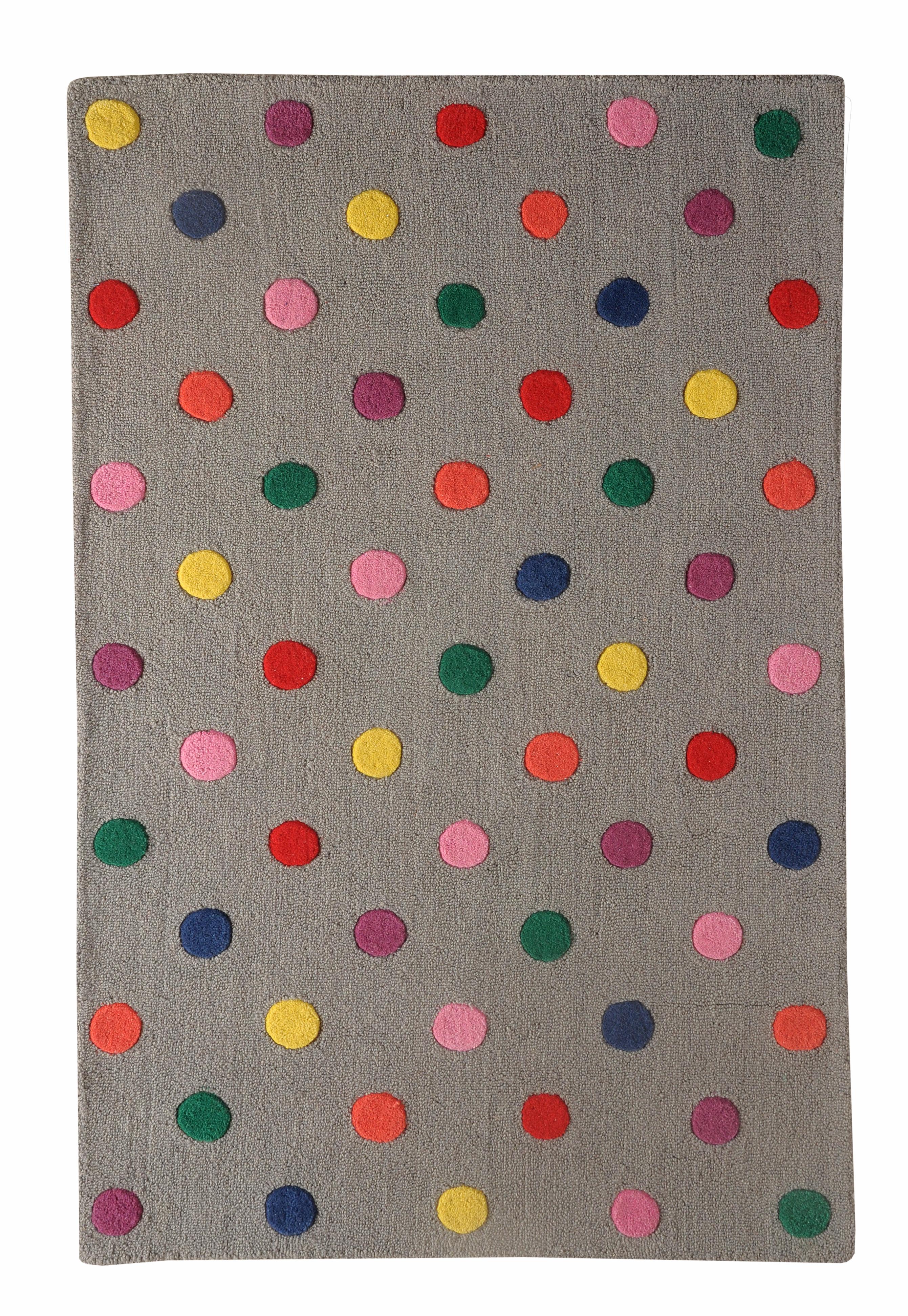 buy kids rugs online, grey rug, buy grey rug, handmade rugs, hand tufted rugs, colorful dot rug, living room rugs, area rugs, kids rugs, bedroom rugs, littlelooms rugs, versatile rugs