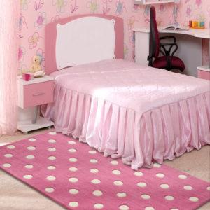 buy kids rugs online, buy polka dots rug, pink polka dots rug, littlelooms rugs, hand tufted rugs, hand made rugs, girls room rugs, rugs for girls