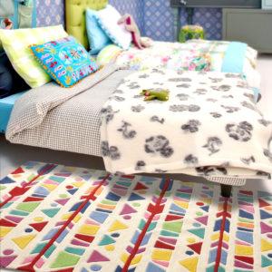 buy area rugs, buy rugs online, multicolor band rug, buy festive rug, festive band rug, handmade rugs, littlelooms rugs, hand tufted rugs, buy living room rugs, buy accent rug, bedroom rugs