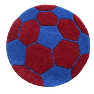 buy boys rugs, buy rugs online, blue football rug, buy football rug, circle football rug, handmade rugs, littlelooms rugs, hand tufted rugs, buy living room rugs, buy accent rug, bedroom rugs