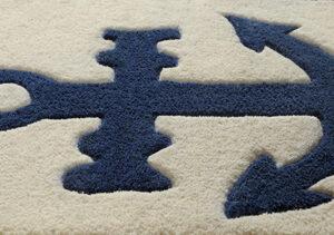 buy kids rugs, Anchor rug, blue & white kids rugs, boys rugs, children's room rugs, bedroom rugs, living room rugs, littlelooms rug, buy anchor rug online, blue & white rugs, hand tufted rugs, handmade rugs