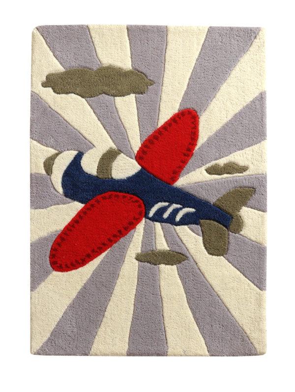 buy kids rugs, Red & blue rug, kids rugs, boys rugs, children's airplane rug, bedroom rugs, living room rugs, littlelooms rug, buy airplane rugs online, grey rugs, hand tufted rug, handmade rugs