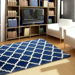 buy bedroom rugs, area rugs, blue rug, living room rugs, littlelooms rug, buy blue pattern rug online, colorful rugs, hand tufted rug, handmade rugs