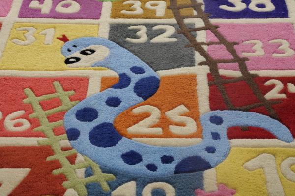 buy kids rugs, snake ladder rug, kids rug, littlelooms rug, buy kids rugs online, colorful kids rugs, hand tufted rug, handmade rugs