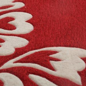 buy red floral rugs, Red Floral rug, area rugs, bedroom rugs, living room rugs, littlelooms rug, buy area rugs online, red rugs, hand tufted rug, handmade rugs