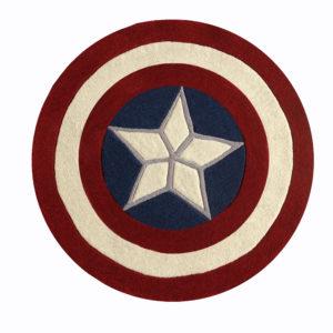 buy captain America rug, Captain America rug, living room rugs, kids rugs, boys rugs, littlelooms rug, buy area rugs online, Star pattern rugs, hand tufted rug, handmade rugs