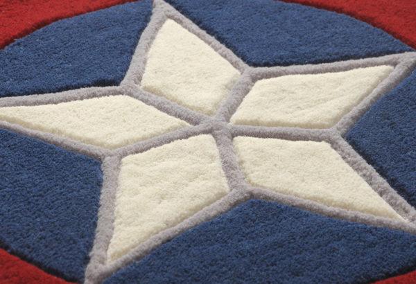 buy blue rug, blue starl rug, living room rugs, littlelooms rug, buy area rugs online, Star pattern rugs, hand tufted rug, handmade rugs