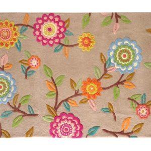 buy floral rugs, beige floral rug, living room rugs, littlelooms rug, buy area rugs online, colorful rugs, hand tufted rug, handmade rugs