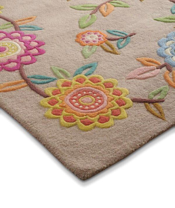 buy rugs online, buy carpets online, beige floral rugs, buy living room rugs, buy area rugs, buy colorful rugs, littlelooms rugs, hand tufted rugs, handmade rugs
