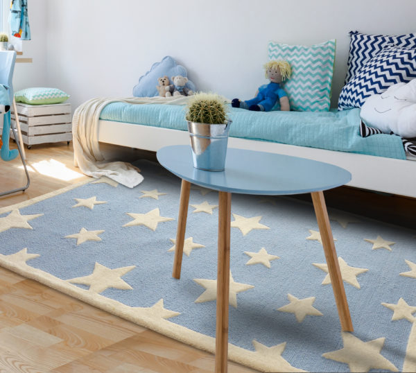 buy kids rugs online, buy kids carpets online, blue stars rug, kids room rugs, boys rugs, children's carpets, littlelooms rugs, hand tufted rugs, handmade rugs