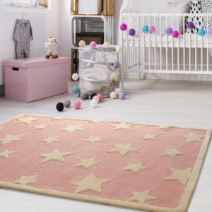 buy kids rugs online, buy kids carpets online, pink stars rug, kids room rugs, children's carpets, littlelooms rugs, hand tufted rugs, handmade rugs