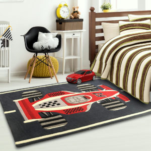 kids rugs, carpet for kids, rugs for playing, rugs for boys, rugs for playing, nursery rugs, buy kids rugs, kids rugs online, Supercar Rug, Sports car rug, Red and black rug, buy Supercar rug, Formula one rug, hand tufted rugs, handmade rugs, littlelooms rugs