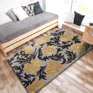 buy rugs online, buy carpets online, grey & yellow rugs, grey floral rugs, buy living room rugs, area rugs, littlelooms rugs, hand tufted rugs, handmade rugs