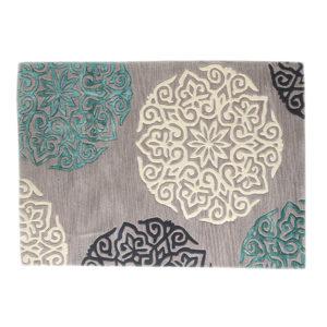 buy rugs online, buy carpets, large motif rug, colorful motifs rug, grey motif rug, loving room rugs, bedroom rugs, formal rugs, classic rugs, littlelooms rugs, hand tufted rugs, handmade rugs