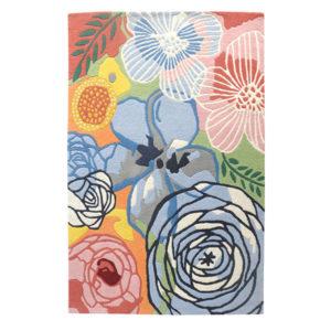 buy rugs online, buy carpets, flower rug, multicolor flower rug, accent rug, rugs for living room, fireplace rug, modern print rugs, rose print rug, littlelooms rugs, hand tufted rugs, handmade rugs