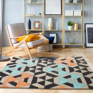 buy rugs online, buy carpets, modern rugs, multicolor rug, black pattern rug, area rug, accent rug, bedroom rug, living room rug, contemporary rug designs, littlelooms rugs, hand tufted rugs, handmade rugs