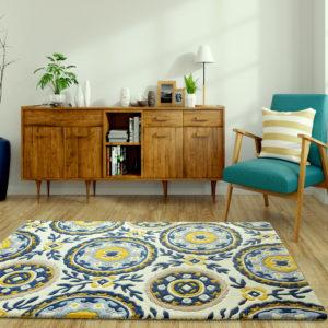 buy rugs online, floral pattern rug, cream & yellow rug, beige floral rug, living room rug, bedroom rug, classic rug, area rugs, littlelooms rugs, hand tufted rugs, handmade rugs