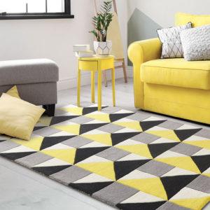 buy rugs online, buy carpets, black & yellow pattern rug, living room rugs, area rugs, bedroom rugs, accent rugs, littlelooms rugs, handmade rugs, hand tufted rugs