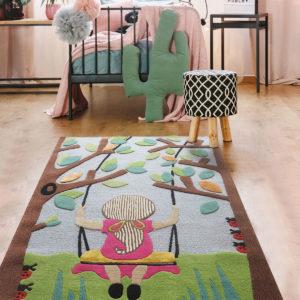 Buy rugs, Buy rugs online, girls rug, Nature theme rugs, kids rugs, Pastel rugs, Handmade rugs, Hand tufted rugs, Littlelooms rugs, rugs for girls, tree rug