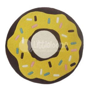 kids rugs, carpet for kids, rugs for girls, rugs for playing, rugs for learning, donut rug, round rug