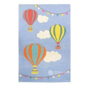 Hot air ballon rug, Hotair balloon rug, Kids room rugs, Kids rugs, Blue rugs, Soft rugs, Boys room rugs, Clouds rug, Cute rugs, Baby room, Baby mats, blue hot air balloon rug, hot air balloon area rug, hot air balloon nursery rug