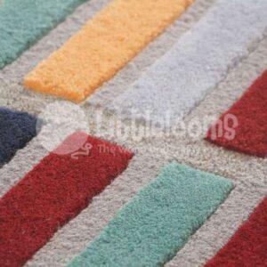 Multicoloured rugs, Multi color rugs, Living room carpets, Bright rugs, Handmade rugs Area rugs, brick area rug, brick colour rug, brick design rug, brick pattern rug, brick rug, brick style rug, bright color block rug, color block area rug