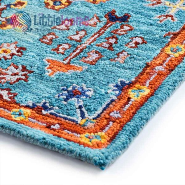 designer blue rugs, buy designer rugs online, blue natural rugs online, floor rugs, abha teal rug online