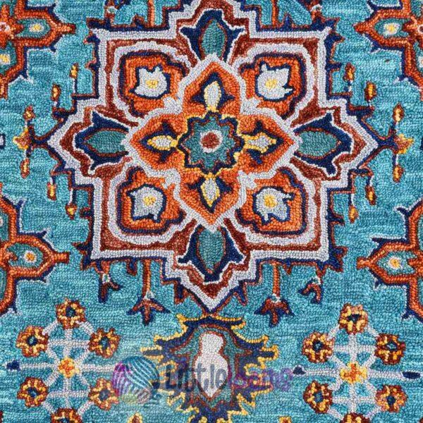 buy rugs online, blue rugs online, multi-colour rugs online, handcrafted rugs online