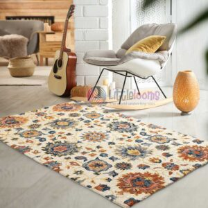 living room rugs online, floral rugs online, bedroom floral design rugs online