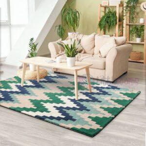 chevron print carpet online, blue rugs online, 3D chevron carpets online