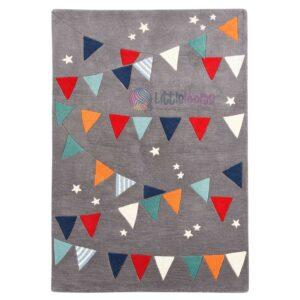 grey playful rugs, handmade unisex carnival carpet, sibling rugs, soft baby mats, carnival rugs