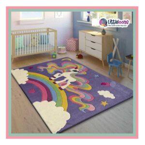 Unicorn rug, girls room, nursery rug, dreamy unicorn rug, unicorn rugs for girls room, buy unicorn printed rugs online