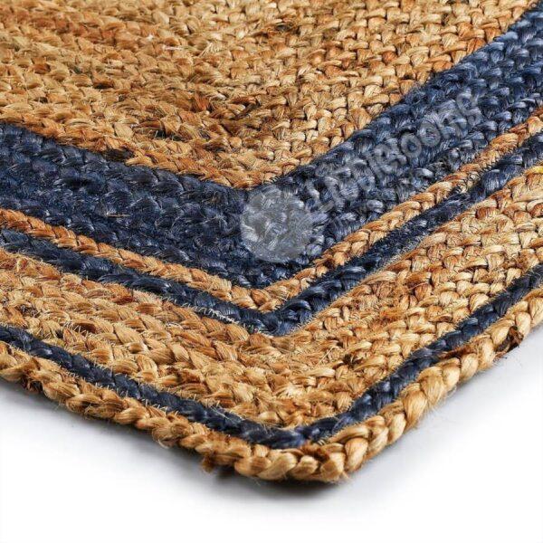 buy jute rugs online, sustainable jute rugs, blue and gold mix jute rugs online, buy colour rugs online