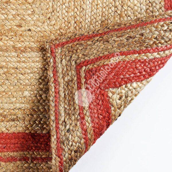 coral jute rugs, colour rugs, natural jute rugs, buy online colour jute rugs