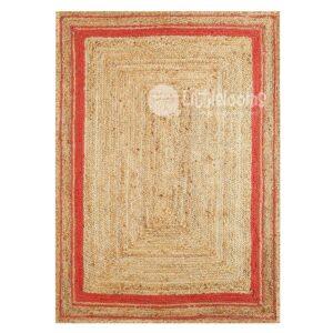 jute rugs, online rugs, buy jute rugs, gold and coral jute rugs