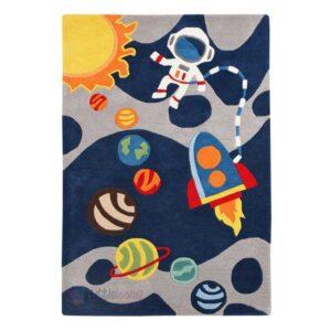 Universe rug, Astronaut rug, space rug rocket rug, children's rugs, carpets planets rug
