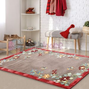 multi-colour rugs online, maroon printed rugs, decorative floral carpets online, floor printed carpets online