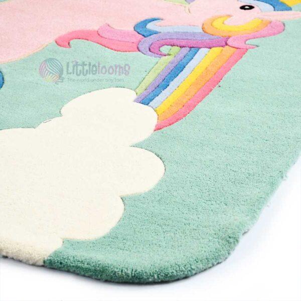 soft baby rugs, unicorn rugs for girls room, girls room rugs, princess lia unicorn rugs, handmade nursery rugs, girls room rug