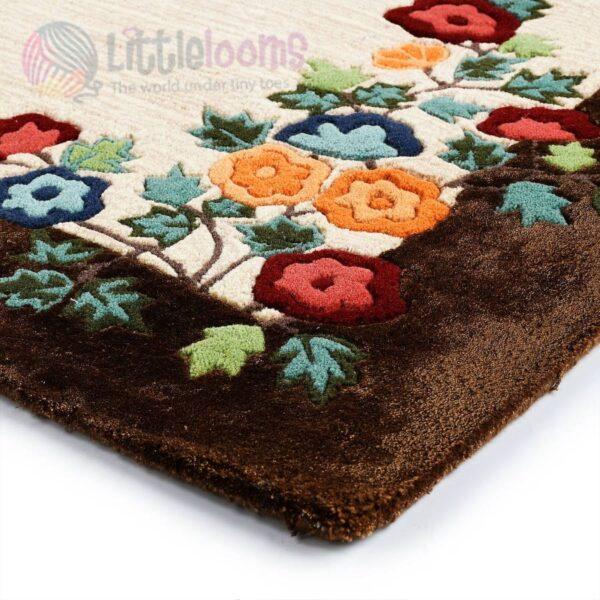 brown rugs for living room online, luxury carpets online, flower carpets online, brown area rugs online